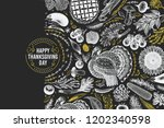 happy thanksgiving day design... | Shutterstock .eps vector #1202340598