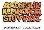 graffiti font  vector...