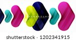 colorful glossy arrows abstract ... | Shutterstock .eps vector #1202341915