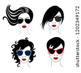 illustration of woman with... | Shutterstock .eps vector #1202349172