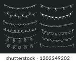 set of hand drawn sketch... | Shutterstock .eps vector #1202349202