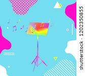 colorful music stand with music ... | Shutterstock .eps vector #1202350855