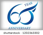 60 years anniversary template... | Shutterstock .eps vector #1202363302