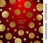 golden circles . bronze polka... | Shutterstock .eps vector #1202392642