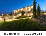 exterior of rustic house  villa ... | Shutterstock . vector #1202395255