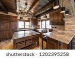 vintage luxury kitchen room in... | Shutterstock . vector #1202395258