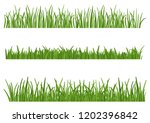green grass isolated on white... | Shutterstock .eps vector #1202396842