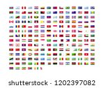 all official national flags of... | Shutterstock .eps vector #1202397082