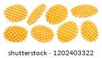 belgian waffles isolated on...   Shutterstock . vector #1202403322