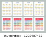 calendar 2019  2020  2021  2022 ...   Shutterstock .eps vector #1202407432
