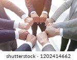 closeup.business people show a... | Shutterstock . vector #1202414662