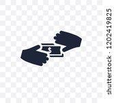 bribe transparent icon. bribe...   Shutterstock .eps vector #1202419825