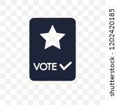 vote transparent icon. vote... | Shutterstock .eps vector #1202420185