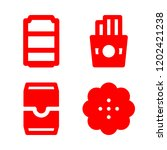 4 unhealthy icons with french... | Shutterstock .eps vector #1202421238
