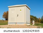 outdoor electric control box... | Shutterstock . vector #1202429305