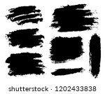 brush strokes. vector... | Shutterstock .eps vector #1202433838