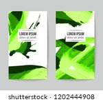 set of vector business card... | Shutterstock .eps vector #1202444908