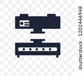 press machine transparent icon. ... | Shutterstock .eps vector #1202446948