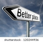 a better place pointing towards ...   Shutterstock . vector #120244936
