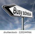 busy schedule full agenda need...   Shutterstock . vector #120244966