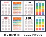 calendar 2019  2020 years.... | Shutterstock .eps vector #1202449978