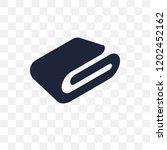 blanket transparent icon.... | Shutterstock .eps vector #1202452162