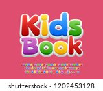 vector colorful text kids block ... | Shutterstock .eps vector #1202453128