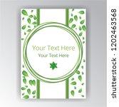green white beautifull cover... | Shutterstock .eps vector #1202463568