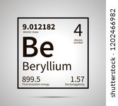 beryllium chemical element with ... | Shutterstock .eps vector #1202466982