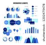 infographic elements  data... | Shutterstock .eps vector #1202475478