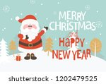 greeting card for christmas and ... | Shutterstock . vector #1202479525