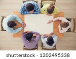 hipster business teamwork... | Shutterstock . vector #1202495338