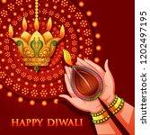 vector design of hand of indian ... | Shutterstock .eps vector #1202497195