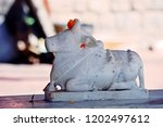 Small photo of An ox which is closely related with Lord Shiva at Vima Kali Temple in Himachal Pradesh, India