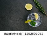 gin tonic cocktail drink with... | Shutterstock . vector #1202501062