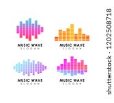 sound wave logo design template | Shutterstock .eps vector #1202508718