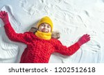 happy child girl playing on a... | Shutterstock . vector #1202512618