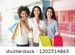 happy multiracial girlfriends... | Shutterstock . vector #1202514865