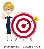 achievement goal concept.... | Shutterstock .eps vector #1202517715