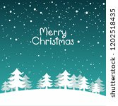 snow landscape background. ... | Shutterstock .eps vector #1202518435