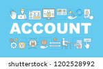 account word concepts banner.... | Shutterstock .eps vector #1202528992