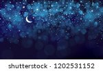 vector night starry sky... | Shutterstock .eps vector #1202531152