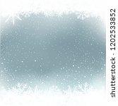 winter blue sky and white snow... | Shutterstock .eps vector #1202533852