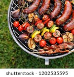 grilled food. various grilled...   Shutterstock . vector #1202535595