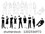 vector silhouettes men and... | Shutterstock .eps vector #1202536972