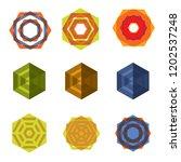 vector logo design elements set ... | Shutterstock .eps vector #1202537248