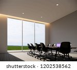 room meeting 3d rendering | Shutterstock . vector #1202538562