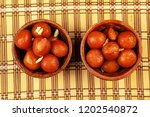 delicious traditional indian... | Shutterstock . vector #1202540872