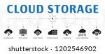 cloud storage concept template. ... | Shutterstock .eps vector #1202546902