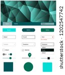 dark blue  green vector ui ux...